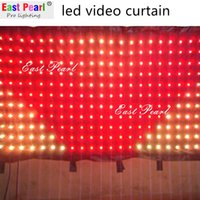 Wholesale A15210 H5 ft x W6 ft led video vision curtain pitch mm DMX remote SD CARD mobile entertainers dj shows nightclubs stage backdrops