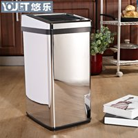 Wholesale YOULET intelligent electric induction stylish living room kitchen bathroom L grade stainless steel trash can