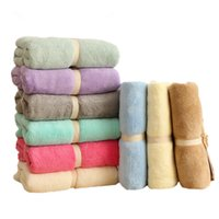 beach bath accessories - 2016 new x150 cm Large Absorbent polyester fiber Fleece Bath Towel Shower Spa Beach sport accessory Quick Dry bathroom sets