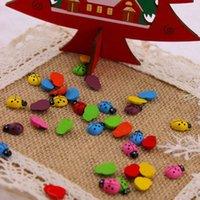 Wholesale 100pcs Cute Magnetic Sticker Cartoon Ladybug Shaped Adhesive Decoration for Refrigerator Fridge