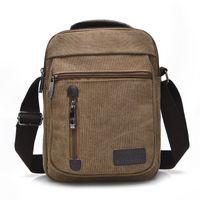 best body washes - BEST BEST men slung washed canvas bag multi function hand bag retro fashion shoulder bag BE2