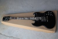 Cheap Free Shipping High Quality black SG silver hardware Angus Young Limited Edition black SG Electric Guitar 151022