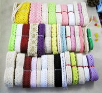 Wholesale 15 yards quality COTTON LACE TRIM GORGEOUS random colors size HS15y