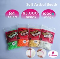 Wholesale 84 bags A mm SOFT flexible mini artkal beads beads colors quality guarantee fuse beads