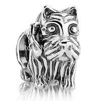 Wholesale Scottie lion Charm Sterling Silver European Charm Pandora Beads Fit Bracelet Snake Chain Jewelry
