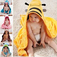 terry hooded towel - 2015 New Cartoon Animal Baby Hooded Bathrobe Bath Towels Bath Terry Bathing Robes For baby Children Kids SV006263