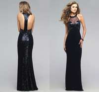 amazing knit - Black Evening Dresses Sequine Sleeveless HIgh Collar Prom Party Dress Cocktail Gowns Night CLub Dress Amazing Quality Vestido De Fiesta ZYY