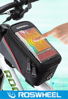 bicyle accessories - ROSWHEEL Brand Mountain Bike Bicyle Touch Screen FrameTube Bag Cycling Front Bags Package For Phone Tools Bicycle Accessories
