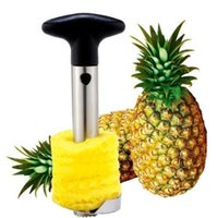 Wholesale Nice Perfect Stainless Steel Fruit Pineapple Corer Slicer Cutter Peeler Home Kitchen Tool Knife Fruit Knives Cooking Tools Hot