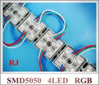 Wholesale SMD RGB LED module waterproof LED pixel module light for sign letter SMD5050 DC12V led IP66 waterproof mm mm CE ROHS