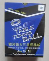 Wholesale Original yinhe new materials poly table tennis ball table tennis game ball stars table tennis rackets racquet sports pingpong balls