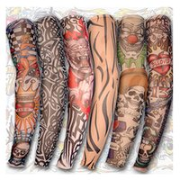 Wholesale Tattoo Sleeves Men and Women Nylon Temporary Tatto Arm Stockings Oversleeves Fake Tattoo Sleeves