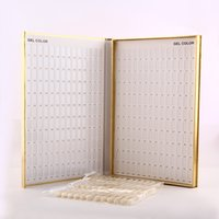 arts book - 1pc Professional Colors Golden Nail Gel Polish Display Card Book Chart with Tips Nail Art Color Chart Book Salon Set F0397