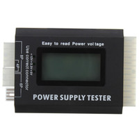 Wholesale Testing Equipment Digital Meter LCD PC Computer Power Supply Tester Pin PSU ATX BTX ITX SATA HDD order lt no track