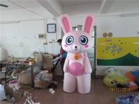animated rabbits - Pink Rabbit Animal Rabbit Cartoon Garment Long Ears Big Eyes Animated Mascot Costumes Clothing Walking Performance Clothing Customization