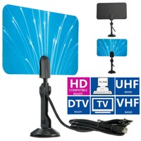 Wholesale 2015 New Arrival Digital Indoor TV Antenna Receiver HDTV DTV Box Ready HD VHF UHF Flat Design High Gain