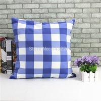 Wholesale 2015 New Spring safa throw pillowcase ikea decorative cushion car covers plaid pillow decorate colorful line cushions home decor