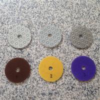 stone polishing pads - 3 Step Polishing Pad mm Diamond Polishing Pads for Granite Marble Concrete Stone Diamond Tool Velcro Buffing Pads Wet or Dry