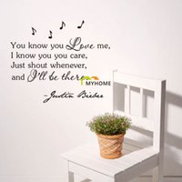 animal love quotes - Justin Bieber Wall Stickers Quotes You know you Love Me Art Decals for Bedroom Living Room Home Decoration