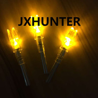 Wholesale 3PK high quality String activated automatically lighted arrow nock arrow tails for ID mm hunting arrows Yellow color