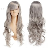 Cheap 2015 New Long Hair Wigs Womens Girls Cosplay Comic Party Fashion Wavy Curly bright color Synthetic Hair Cheap Price 38