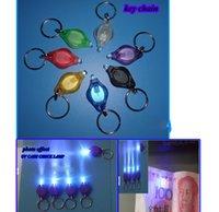 Wholesale Mini Torch Key Chain Ring PK Keyring White LED Lights UV LED Light LED Bulbs ton II Photon Micro Light LED Keychain Flashlight Mi