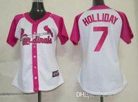 fashion baseball jerseys - Ladies St Louis Pink Splash Fashion Baseball Jerseys quot Cardinals quot Matt Holliday Women Cool Base Jersey Cheap Jerseys Mother s Day Gift