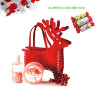 Wholesale Cartoon Deer Birthday Party - Party Candy Bags Santa Deer Reindeer Hand Bag Gifts Holder Birthday Party Christmas Treat Gift Bags Pocket Great Gift Ideas