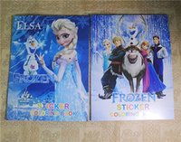 Wholesale Piece Retail elsa sticker books play books drawing toys children educational toys kids gifts stick and play
