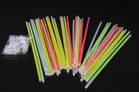 flashing toys - Multi Color Glow Stick Bracelet Necklaces Neon Party LED Flashing Light Stick Wand Novelty Toy LED Vocal Concert LED Flash Sticks P HOT10
