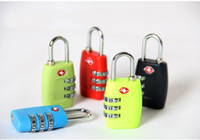 Wholesale Customs Luggage Padlock TSA338 Resettable Digit Combination Padlock Suitcase Travel Lock TSA locks by DHL A