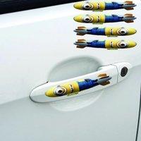 car door handle - Despicable Me Minions Car stickers per set for car door handles cute Minions stickers deco on cars anime car door stickers