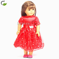 american girl doll boots - Handmade American Girl Doll clothes and accessories Red flower skirt suit with short sleeves Fit inch American Girl doll