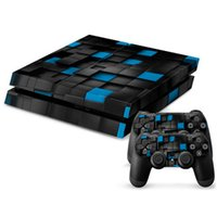 Cheap Brand New High Quality Check Skin Sticker Cover For PS4 4 Console + Controller Vinyl Decal