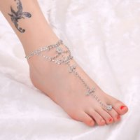Wholesale Lite Teck Promotion New Design Silver Color Anklets for Women Ankle Bracelet Chain Foot Jewelry Women Barefoot Sandals