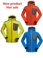 Wholesale 2015 New Softshell Jacket Men Hiking Jacket Waterproof Windproof Thermal For Hiking Camping Ski Super Quality
