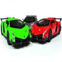 Wholesale Alloy car model fashion children s toy car Lamborghini gray green red