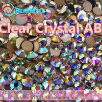 crystal rhinestone hotfix - Superior Quality SS3 mm white clear bag Non HotFix FlatBack Rhinestones glass Glitter glue on loose DIY nail crystals stones