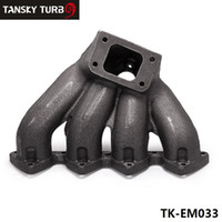 Wholesale TANSKY T3 Top Mount Cast Iron Turbo Manifold with mm Wastegate Port For Honda Civic B16 B18 B Series TK EM033