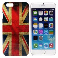Wholesale Case For iphone Retro USA UK flag Spider man Hard Plastic Back Cover cases