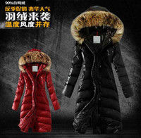 Wholesale 2015 hot new Fashion Women s Down Coat Winter parka fur collar Hooded slim women Down Jacket women Outerwear long down black plus size