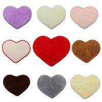 area girls - New Fashion Shaggy Heart shaped Soft Faux Fur Rug Home Decor Sheepskin Bedroom Kid Girls Area Mat Carpet