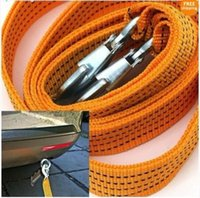 Wholesale 3 Tons Heavy Duty Auto Car Emergency Nylon Trailer Rope Towline with Slip Hooks Brand New Good Quality
