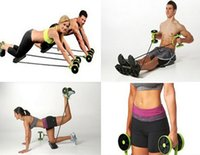 abs wheel exercises - Home Fitness Total Body Gym Revoflex Xtreme Abs Trainer Resistance Exercise Revoflex Xtreme New Core Double Wheels Ab Roller Pull Rope Abdo