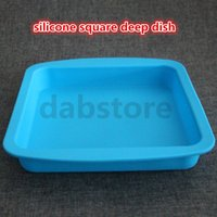 best non stick pan - Best selling square Pan Non Stick Silicone Container Concentrate Oil BHO dish with