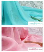 Wholesale Solid Transparent Chiffon Fabric Comfortable and Elegant For Formal Dresses ZY004