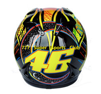 Wholesale ABS Valentino Rossi Motorcycle Full Face Helmet Marushun Capacete Casco