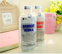 absolut packaging - Transparent ABSOLUT VODKA beer Bottle design TPU Phone case cover for Iphone S S with retail package