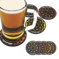beverage cup brand - 1Set Hit The Spot Round Bullseye Coasters Dart Board Drink Bottle Beer Beverage Cup Mats Brand New