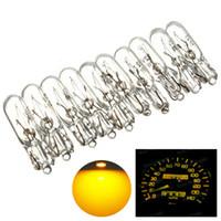 Wholesale 50pcs V W T5 LED Bulb Lamp Socket Car Wedge Dashboard Gauge Instrument Lights